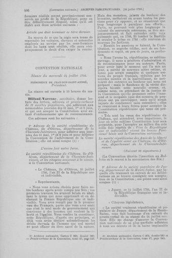 Tome 69 : Du 15 au 29 juillet 1793 - page 406