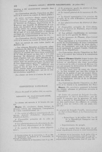 Tome 69 : Du 15 au 29 juillet 1793 - page 452