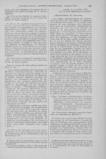 Tome 69 : Du 15 au 29 juillet 1793 - page 527