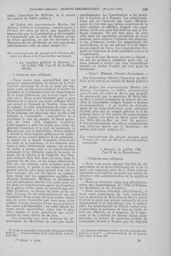 Tome 69 : Du 15 au 29 juillet 1793 - page 529