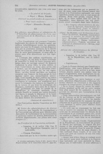 Tome 69 : Du 15 au 29 juillet 1793 - page 534