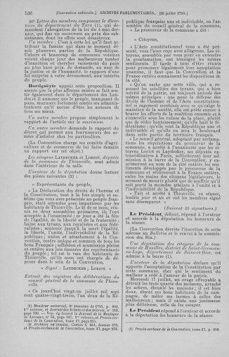 Tome 69 : Du 15 au 29 juillet 1793 - page 536