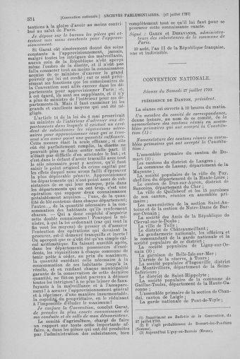 Tome 69 : Du 15 au 29 juillet 1793 - page 574
