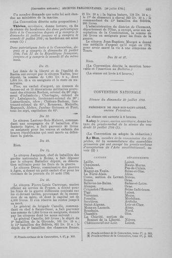 Tome 69 : Du 15 au 29 juillet 1793 - page 605