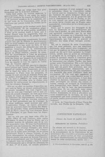 Tome 69 : Du 15 au 29 juillet 1793 - page 639