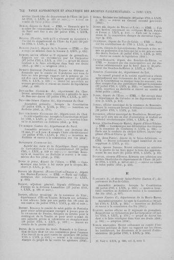 Tome 69 : Du 15 au 29 juillet 1793 - page 764