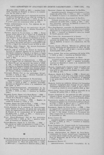 Tome 69 : Du 15 au 29 juillet 1793 - page 773