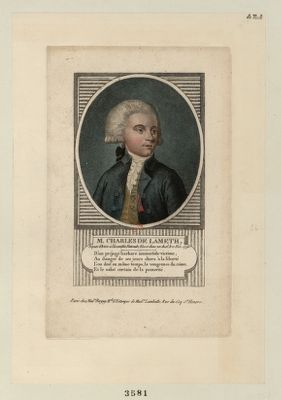 M. Charles de Lameth député d'Artois à l'Assemblée nationale ; blessé dans un duel, le 11 nov. 1790 : [estampe]