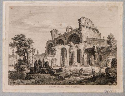 Basilica di Costantino, veduta di prospetto presa da S. Maria Nuova