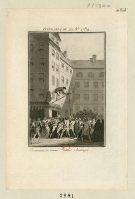 Événement du 22 8.bre 1789 assassinat du nommé François, boulanger : [estampe]