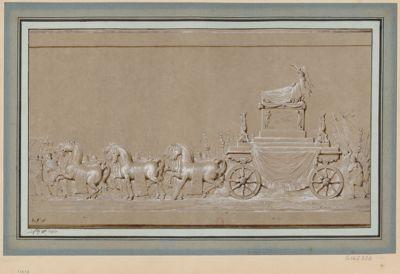 [Char triomphal pour la translation des cendres de Voltaire au Panthéon] [dessin]