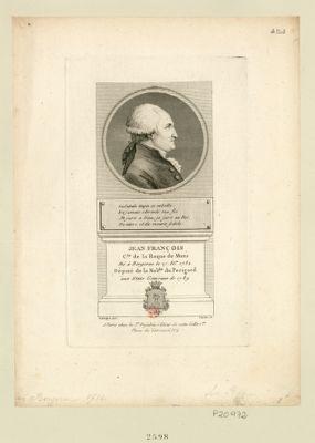 Jean François c.te de La Roque de Mons né à Bergerac le 27 fe.er 1732 député de la nob.sse du Perigord aux Etats généraux de 1789 : [estampe]