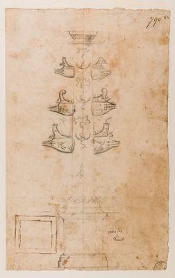 Pincio. Colonna rostrata