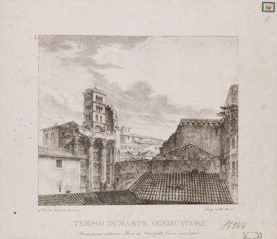Foro d'Augusto, emiciclo meridionale e tempio di Marte