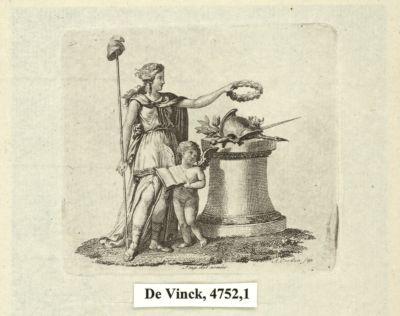 [La  République déposant une couronne sur l'autel de la patrie] [estampe]