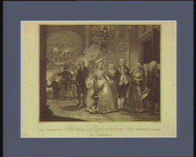Die  Trennung Ludwigs des Sechszehenden von seiner Familie im Tempel [estampe]