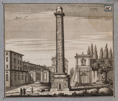 Colonna Traiana, veduta fantastica