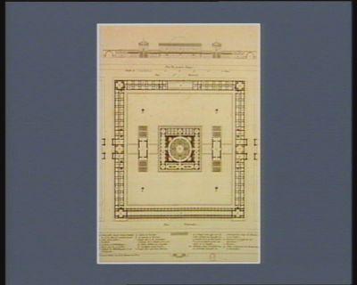 Projet d'un monument pour l'Assemblée nationale élevation prise dans l'interieur de la cour : plan du premier etage : [estampe]