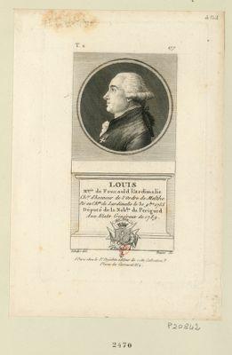 Louis m.quis de Foucauld L'Ardimalie ch.er d'honneur de l'ordre de Malthe né au ch.au de Lardimalie le 30 9.bre 1755 député de la nob.sse du Perigord aux Etats généraux de 1789 : [estampe]