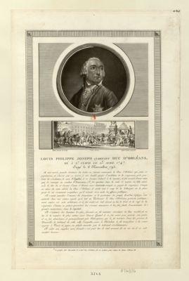 Louis Philippe Joseph ci-devant duc d'Orleans, né à St Cloud [estampe]