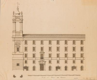 Palazzo dei Filippini alla Chiesa Nuova. Prospetto su Piazza dell'Orologio