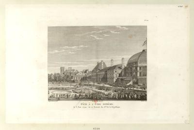 Fête à l'Etre <em>suprême</em> le 8 juin 1794, ou 20 prairial an 2.eme de la République : [estampe]