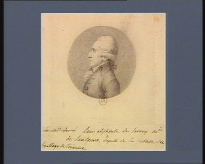 Louis Alphonse de Savary m.is de Lancosme député de la noblesse du baillage de Touraine : [dessin]