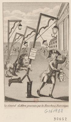 Le  Général d'Alton poursuivi par les reverberes patriotiques [estampe]