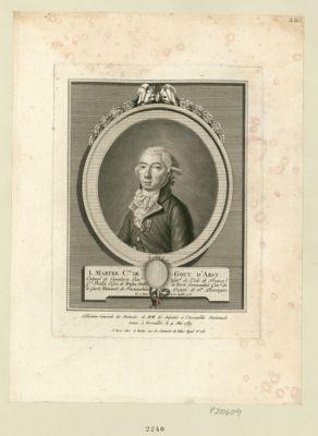 L. Marthe c.te de Gouy d'Arsy colonel de cavalerie, lieu.t gén.al de l'Isle de France, g.d bailly d'épée de Melun, maire de Moret, commandant de la Garde nationale de Fontainebleau, député de St Domingue, né à Paris le 15 juillet 1753 15 juillet 1753 : [estampe]