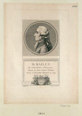 M. Bailly de l'Academie française député de Paris, nommé président, premier a l'Assemblée nationale de 1789. Maire de Paris : [estampe]