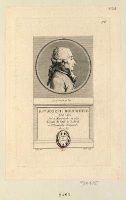 F.cois Joseph Bouchette avocat né à Winnezeele en 1736. Député du baill.e de Bailleul à l'Assemblée nationale de 1789 : [estampe]