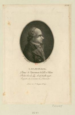 Lanjuinais député du département de Lille et Vilaine, déclaré hors la loi le 28 juillet 1793, rappelé à la Convention le 9 thermidor : [estampe]