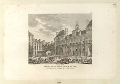Attaque de la Maison commune de Paris le 29 juillet 1794, ou 3 thermidor an 2.eme de la Republique : [estampe]