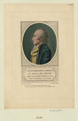 Jean-Philippe Garran (ci-devant) de Coulon député à l'Assemblée nationale de 1791, grand procurateur de la <em>nation</em> : [estampe]