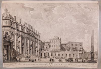 S. Pietro in Vaticano. Facciata, scorcio