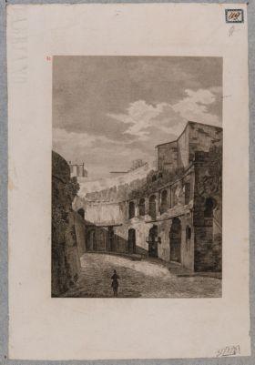 Foro Traiano, estremità meridionale dell'emiciclo dei Mercati Traianei