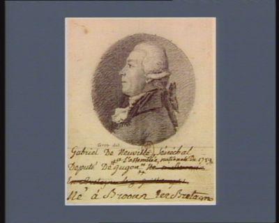 Gabriel de Neuville senéchal député du Jagon <em>à</em> l'Assemblée nationale de 1789... : [dessin]