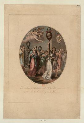 Les  Cendres de Voltaire et de J.J. Rousseau sont portées au tombeau des grands hommes [estampe]