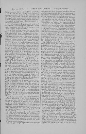 Tome 4 : 1789 – États généraux. Cahiers des sénéchaussées et baillages [Mirecourt - Paris (hors les murs)] - page 7