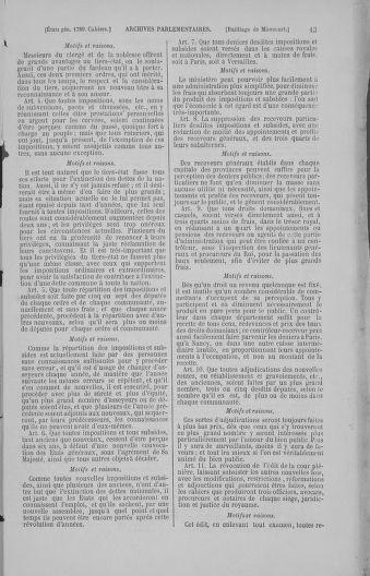 Tome 4 : 1789 – États généraux. Cahiers des sénéchaussées et baillages [Mirecourt - Paris (hors les murs)] - page 13