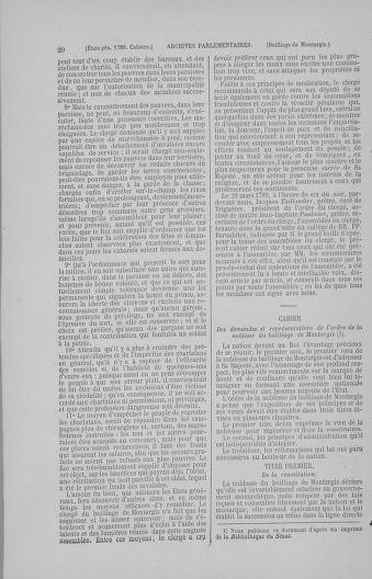 Tome 4 : 1789 – États généraux. Cahiers des sénéchaussées et baillages [Mirecourt - Paris (hors les murs)] - page 20