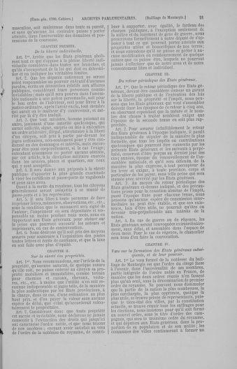 Tome 4 : 1789 – États généraux. Cahiers des sénéchaussées et baillages [Mirecourt - Paris (hors les murs)] - page 21
