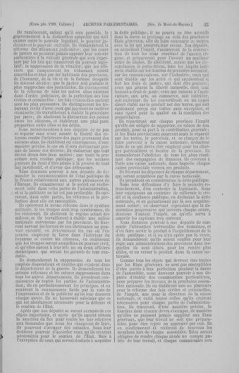 Tome 4 : 1789 – États généraux. Cahiers des sénéchaussées et baillages [Mirecourt - Paris (hors les murs)] - page 35