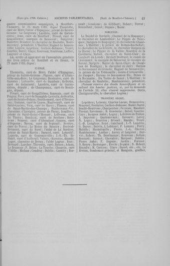 Tome 4 : 1789 – États généraux. Cahiers des sénéchaussées et baillages [Mirecourt - Paris (hors les murs)] - page 43