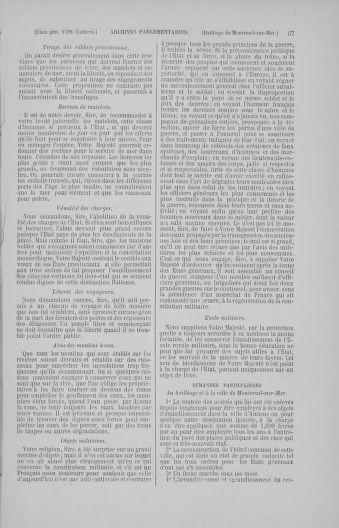 Tome 4 : 1789 – États généraux. Cahiers des sénéchaussées et baillages [Mirecourt - Paris (hors les murs)] - page 67