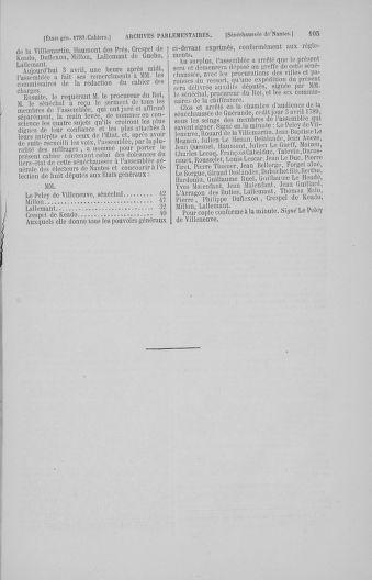 Tome 4 : 1789 – États généraux. Cahiers des sénéchaussées et baillages [Mirecourt - Paris (hors les murs)] - page 105