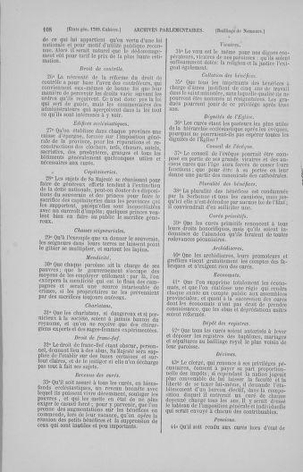 Tome 4 : 1789 – États généraux. Cahiers des sénéchaussées et baillages [Mirecourt - Paris (hors les murs)] - page 108