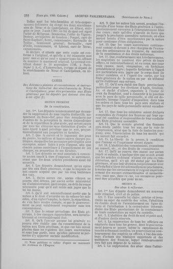 Tome 4 : 1789 – États généraux. Cahiers des sénéchaussées et baillages [Mirecourt - Paris (hors les murs)] - page 232