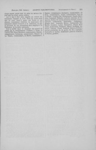 Tome 4 : 1789 – États généraux. Cahiers des sénéchaussées et baillages [Mirecourt - Paris (hors les murs)] - page 235