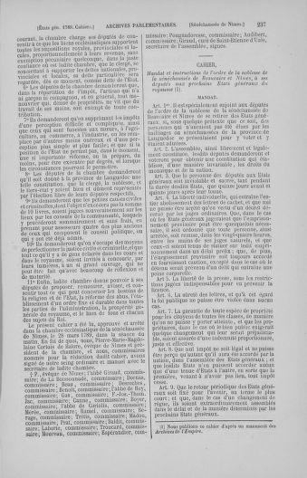 Tome 4 : 1789 – États généraux. Cahiers des sénéchaussées et baillages [Mirecourt - Paris (hors les murs)] - page 237